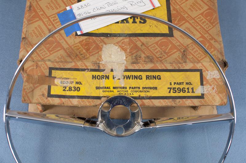 Nos 1955 1956 chevrolet 210 horn ring 759611 ebay for American classics inc