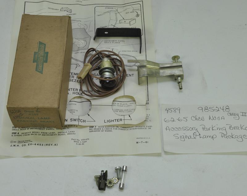 Nos 1962 65 chevrolet nova accessory parking brake signal for American classics inc