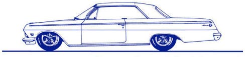 Hand drawn 1962 Chevrolet Impala logo for All American Classics